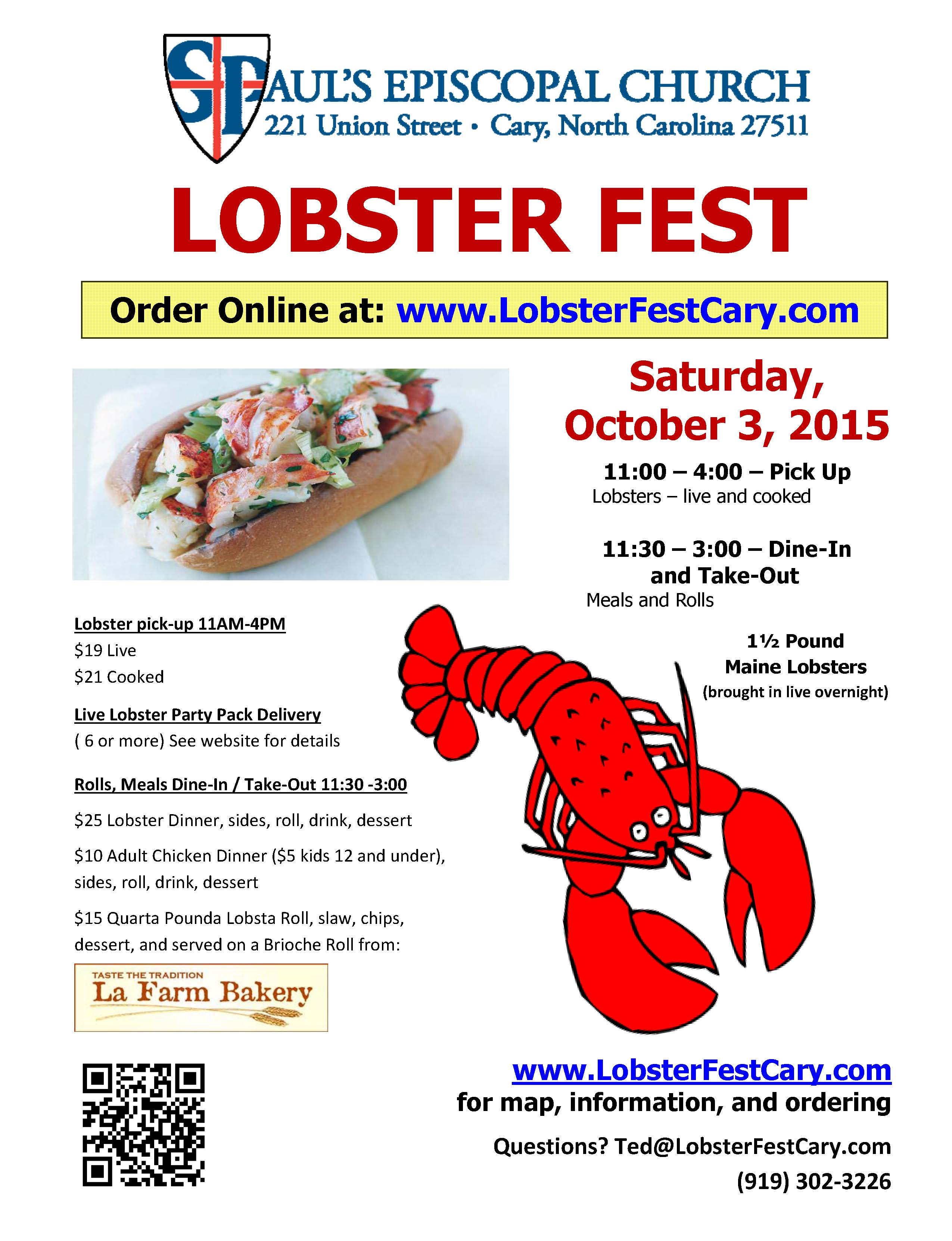 lobster fest flyers and business cards