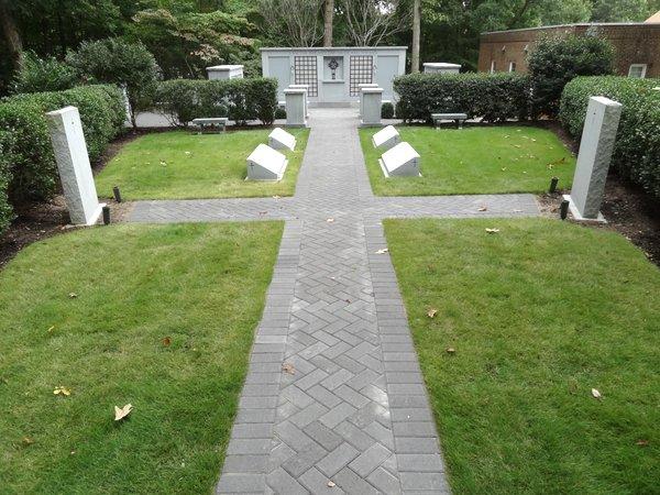 Pavers in Memorial Garden |
