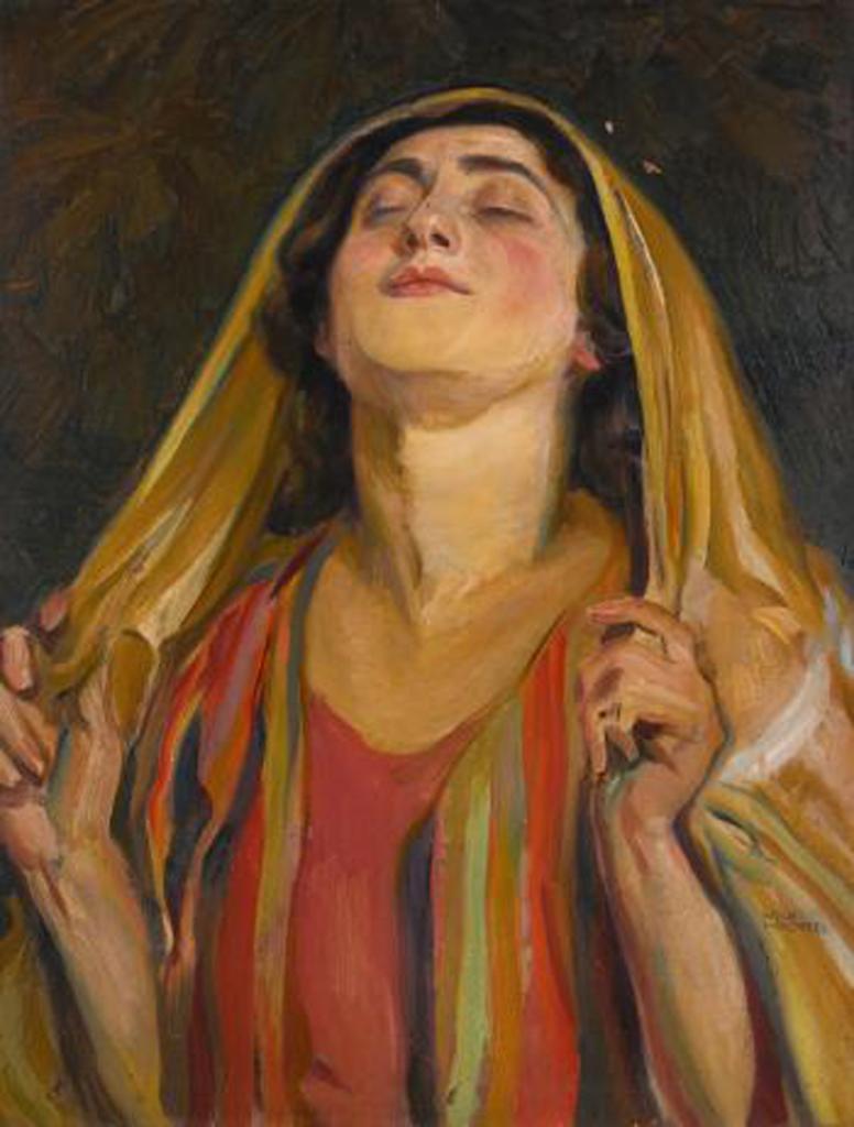Hannah at Prayer oil on canvas, ca. 1910-1942 Wachtel, Wilhelm, 1875-1942 Courtesy: Vanderbilt University Library